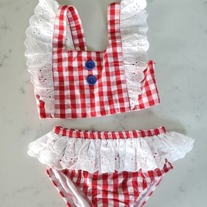 Eleanor Rose girls swim suit bikini ruffled